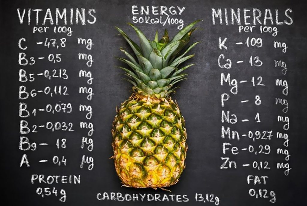 Benefits of Pineapple : Has Rich Nutrient Content