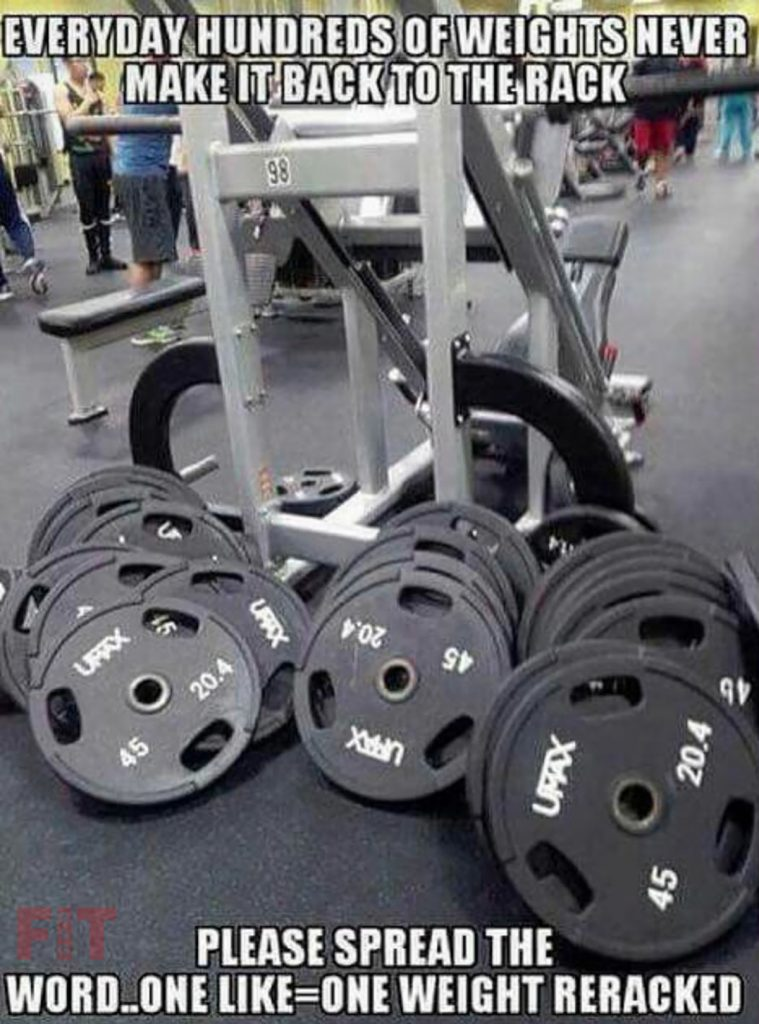 Written And Unwritten Rules Of GYMs For Beginners Putting The Weight To Their Places